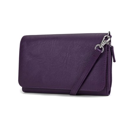 ae60ca2499ee MUNDI RFID Crossbody Bag For Women Anti Theft Travel Purse Handbag Wallet  Vegan Leather