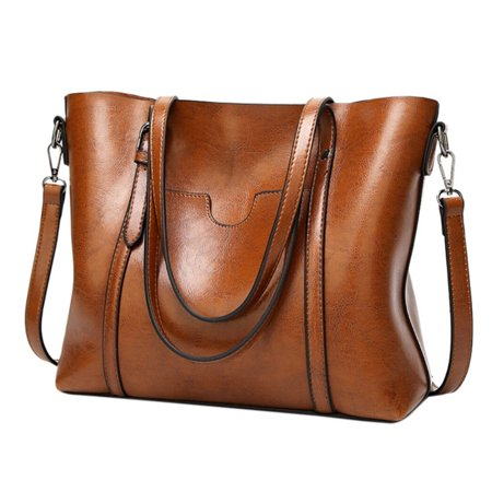 Oil Wax Leather Women Handbags Shoulder Bag Top Handle Satchel Big Capacity Handbags Purse Messenger Tote Bag