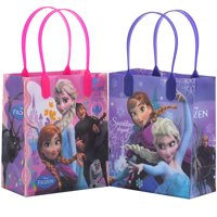 Disney Frozen Sparkling 12 Reusable Party Favors  Small Goodie Gift Bags 6""