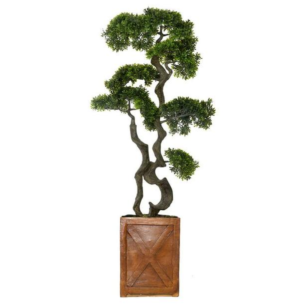 Vintage Home Artificial Faux Plastic 54 Tall Bonsai Tree And Fiberstone Planter Walmart Com Walmart Com