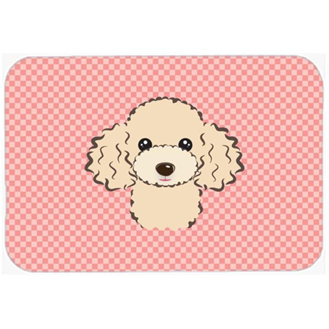 Checkerboard Lime Green Buff Poodle Mouse Pad, Hot Pad Or Trivet, 7.75 x 9.25 In. - image 1 of 1