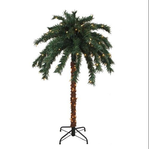 6' Pre-Lit Tropical Outdoor Summer Patio Palm Tree - Clear Lights