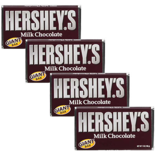 Hershey's Giant Bar Milk Chocolate, 7 Oz (Pack of 4)