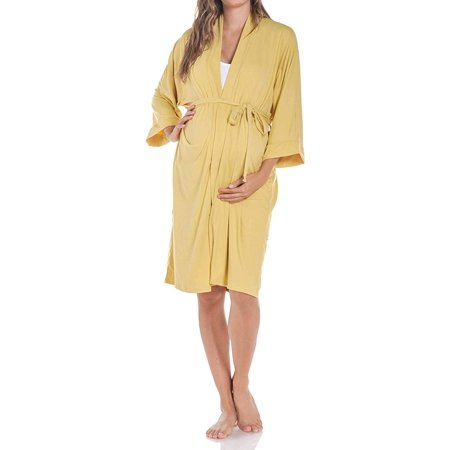 d397d061167f6 Beachcoco Women's Maternity Robe for Delivery and Nursing