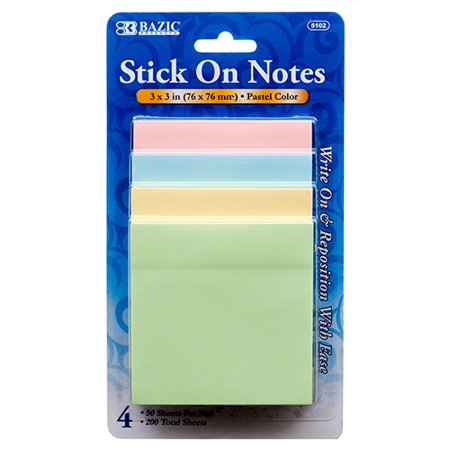 New 305697  Notes Stick On 4Pk Asst Color #Bazic (24-Pack) Markers Cheap Wholesale Discount Bulk Stationery Markers](Cheap Xray Markers)