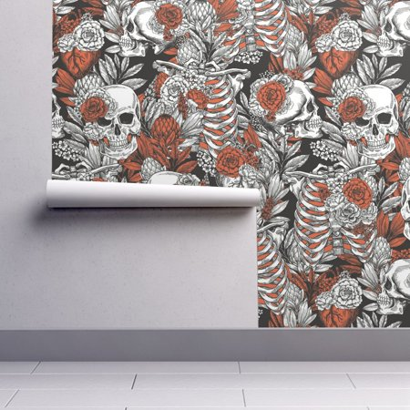 Removable Water-Activated Wallpaper Floral Spooky Halloween Spooky Halloween](Halloween Cats Wallpaper)