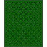 "1"" Round Brilliant green Labels for Laser Printers, Inkjet Printers or Copier Machines. (GLC100BG)"