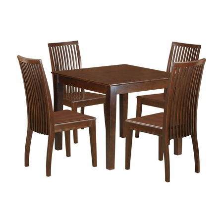 Stupendous East West Furniture Oxford 5 Piece Dining Table Set With 4 Wood Seat Dining Chairs Gmtry Best Dining Table And Chair Ideas Images Gmtryco