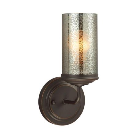 Sea Gull Lighting Sfera - One Light Wall Sconce, Autumn Bronze Finish with Mercury Glass