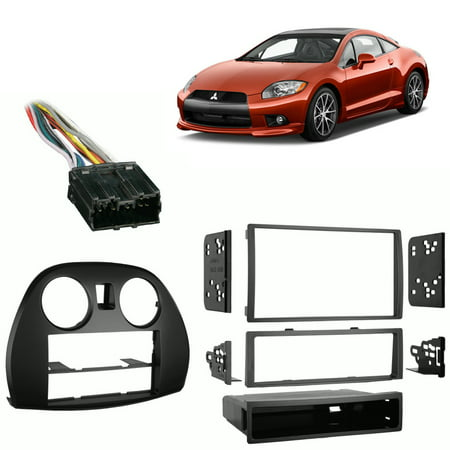Fits Mitsubishi Eclipse 2006-2012 Single/Double DIN Harness Radio Dash - Mitsubishi Eclipse Stereo