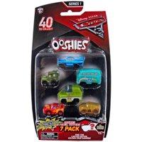 Disney / Pixar Ooshies Series 1 Ramone, Sarge, Fillmore, Roscoe, McQueen & Translucent Muddy McQueen 7-Pack