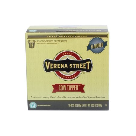 Verena Street? Cow Tipper Flavored Single Cup Capsules, 18 (Crow Coffee)