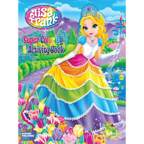 lisa frank cut super coloring and activity book walmart com