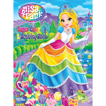 Lisa Frank Die Cut Super Coloring and Activity Book - Walmart.com