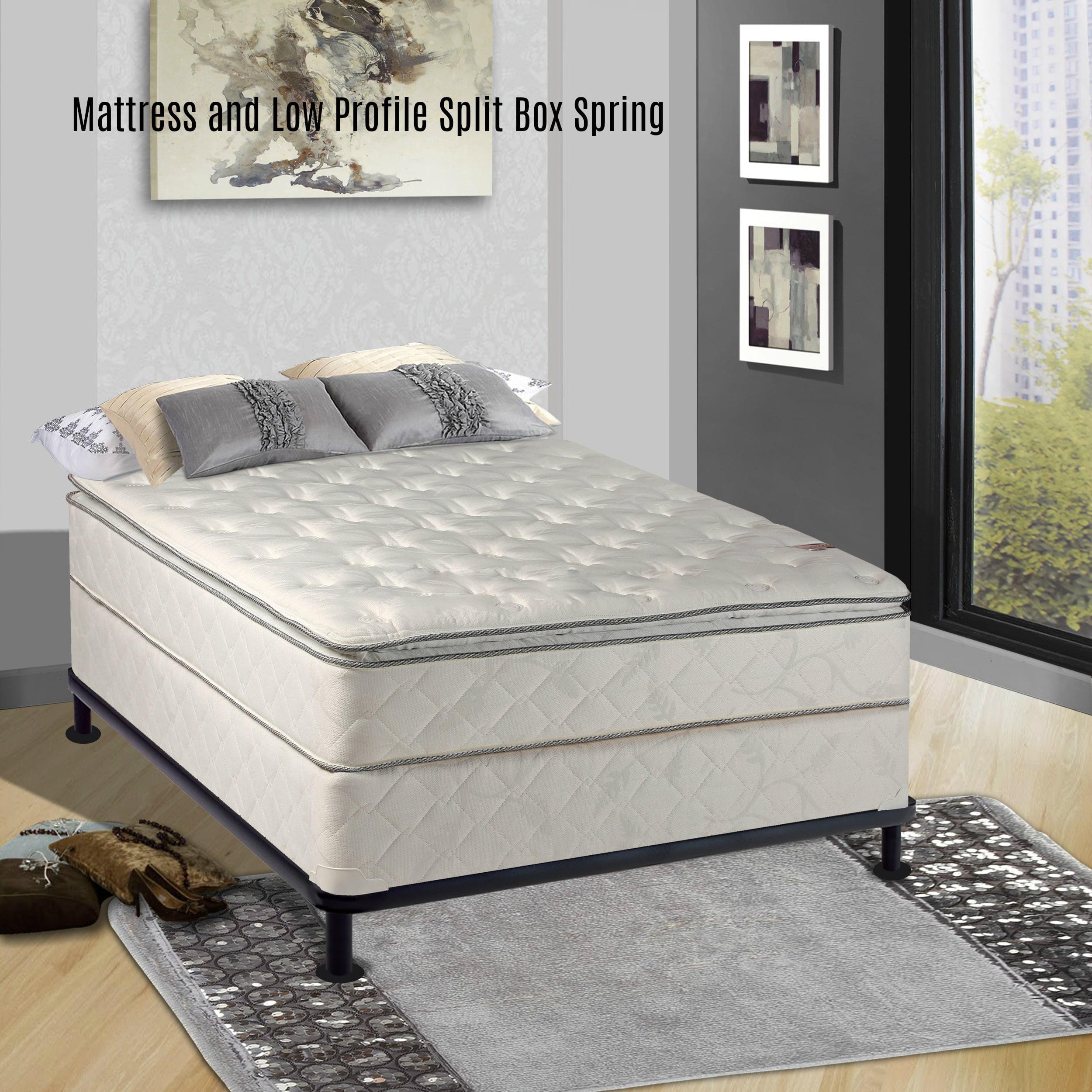 continental sleep 10 inch medium plush pillowtop innerspring type