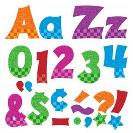 Trend Enterprises T-79841BN 4 in. Upper & Lowercase Ready Letters Combo Set, Snazzy - Pack of 3 Lowercase Ready Letters