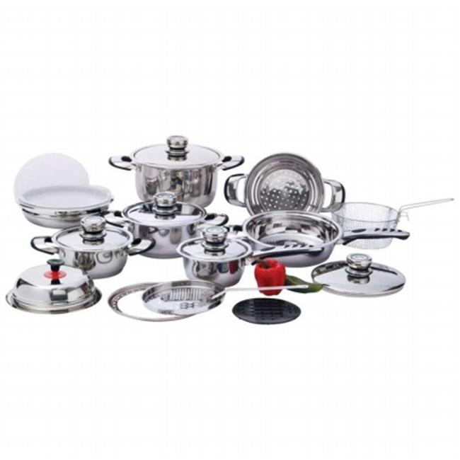 Chef KT22 Chef 22Pc 7-PLY Ss Cookware Set