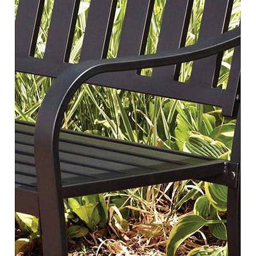 Mainstays Slat Outdoor Garden Bench Black Best Outdoor