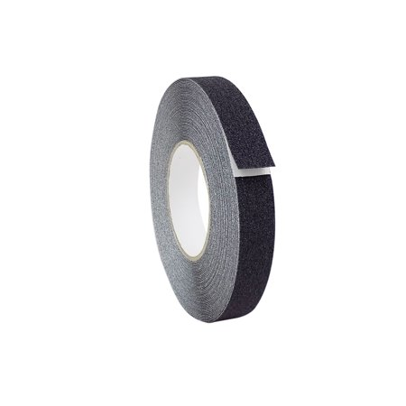 WOD NST-20 Strong Grip Black - 1 inch x 60 ft. - 60 Grit Non Skid Weather Proof Indoor & Outdoor Traction Tape No Slip (Available in Multiple Colors)