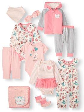 Miniville Cats Mix N Match Baby Shower Layette Gift Set, 11pc (Baby Girls)