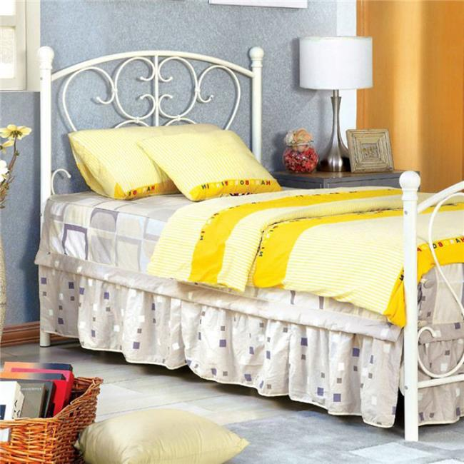 Alice Princess Design Metal Bed - White - image 1 de 1