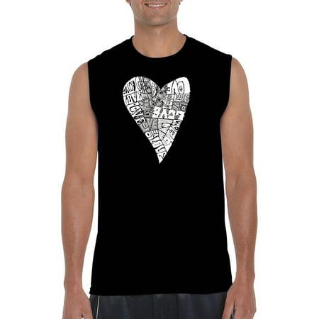 Los Angeles Pop Art Big Mens Sleeveless T Shirt   Lots Of Love