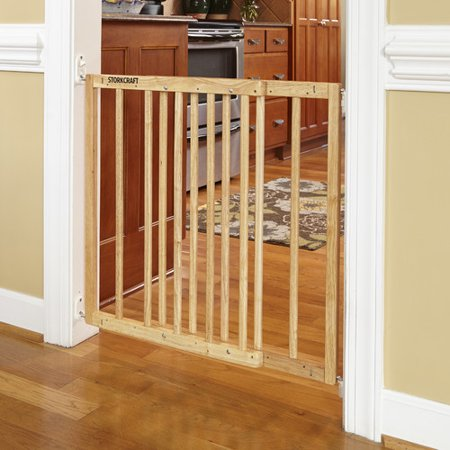 Storkcraft Easy Walk Thru Wooden Safety Gate Natural