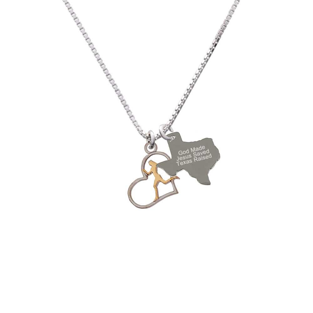 Delight Silvertone Runner Silhouette in Heart - Engraved ...
