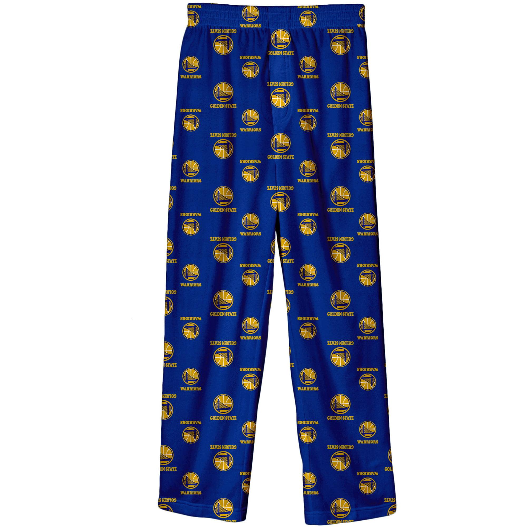 Golden State Warriors Kid's Logo Print Lounge Pants - Royal