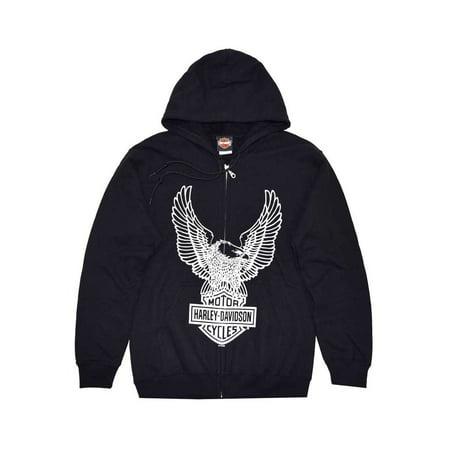3X-Large Men's Eagle Hoodie, Hooded Sweatshirt Zip, Black (3XL) 30296661 - Eagle Zip