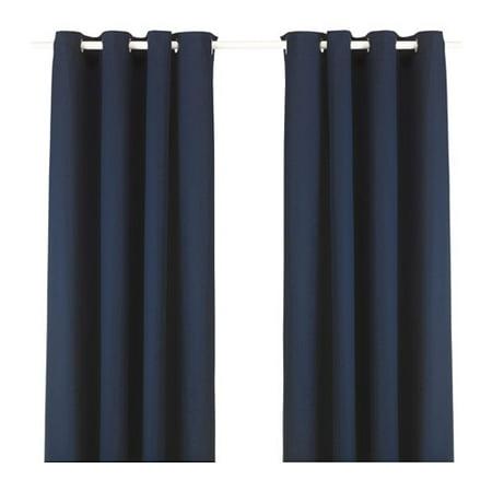 Ikea Curtains, 1 pair, blue 628.855.218 ()