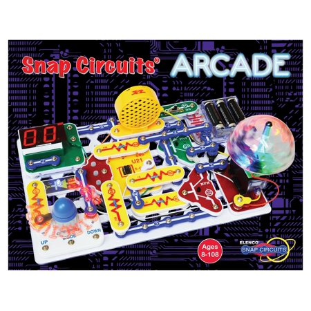 Snap Circuit Light (Snap Circuits Arcade Electronics Exploration Kit | Over 200 STEM Projects | 4-Color Project Manual | 20+ Build and Play Games | 35+ Snap Modules | Unlimited)