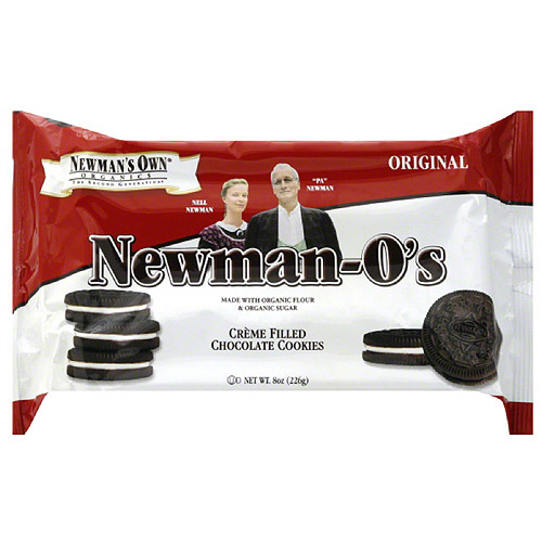Newman's Own Organics Newman-O's Original Cookies, 8 oz (Pack of 6)