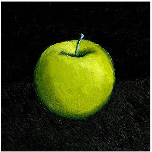 "Trademark Fine Art ""Green Apple Still Life"" Canvas Art by Michelle Calkins"