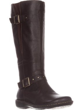 Womens B.O.C Austin Flat Knee-High Comfort Boots, Dark Brown