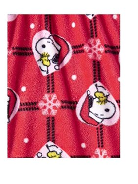 AME Girls Fleece Sleep Pants Snoopy Holiday Hugs Trolls Jolly Lights (Snoopy Themed, 6/6x)
