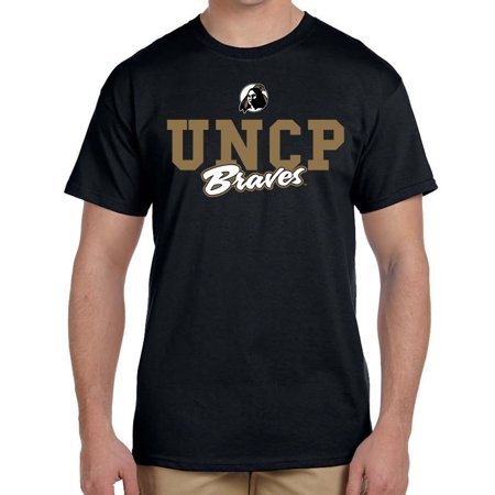 J2 Sport University North Carolina at Pembroke Braves NCAA Campus Script Unisex T-Shirt - Linens North Carolina University