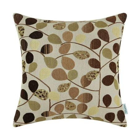 Vinyl Boutique Shop Luxury Chenille Cute Leaves Both Sides, Ecru Brown (Travel Cork Board)