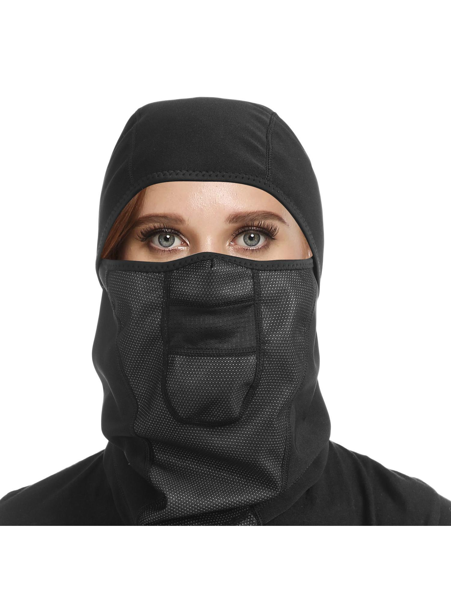 Wind-Resistant Face Shield Full Coverage Warmth Face Guard Hinged Fleece Balaclava Face Masks Veil for Outdoor... by