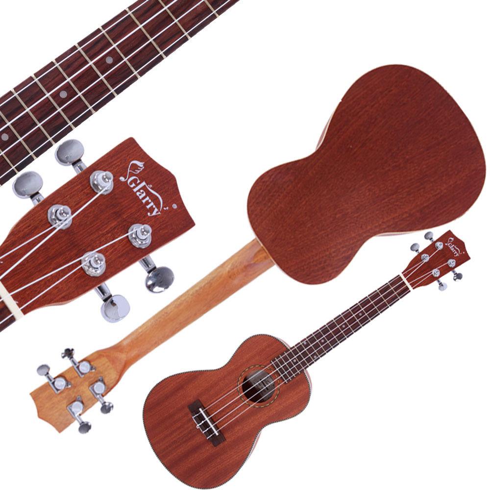 "Ktaxon Glarry 23"" Matte Concert Ukulele with Decorative Edge Rosewood Fingerboard Brown"