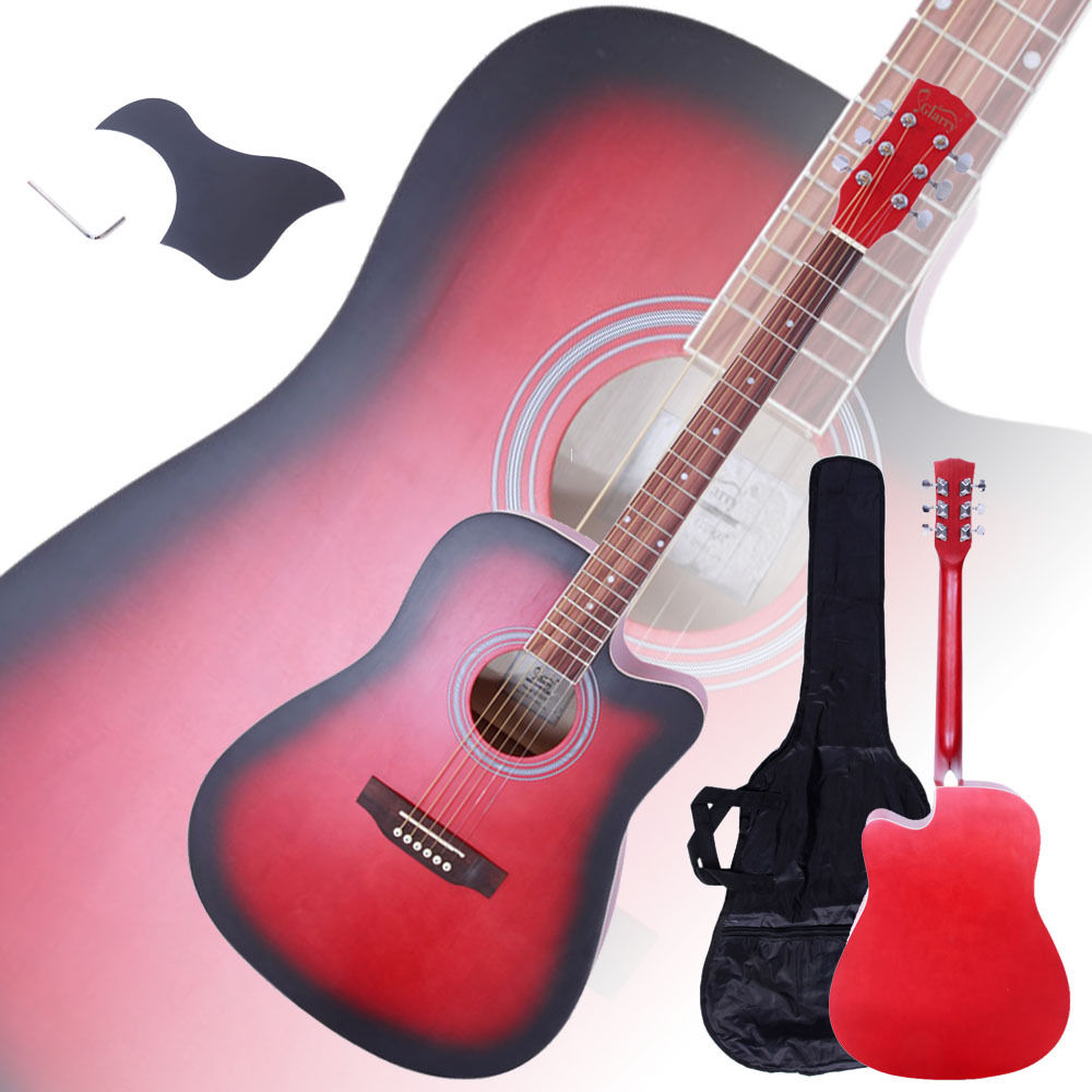 "Ktaxon 41"" Acoustic Guitar Spruce Wood Cutaway Design w/ Guitar Case and More"