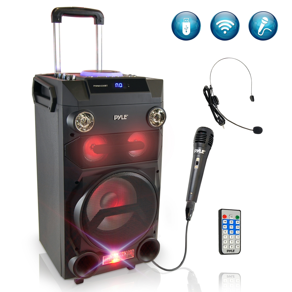 USB//SD Rechargeable Battery Pyle Portable Bluetooth Wireless Speaker FM Radio