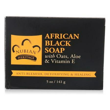 Nubian Heritage African Black Bar Soap, Deep Cleaning - 5 - Nubian Heritage African Black Soap
