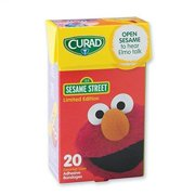 Curad Sesame Street Bandages With Sound - First Aid Supplies - 20 per Pack