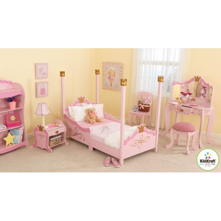 Bundle 37 KidKraft Princess Toddler Four Poster Customizable Bedroom Set 3 Pieces
