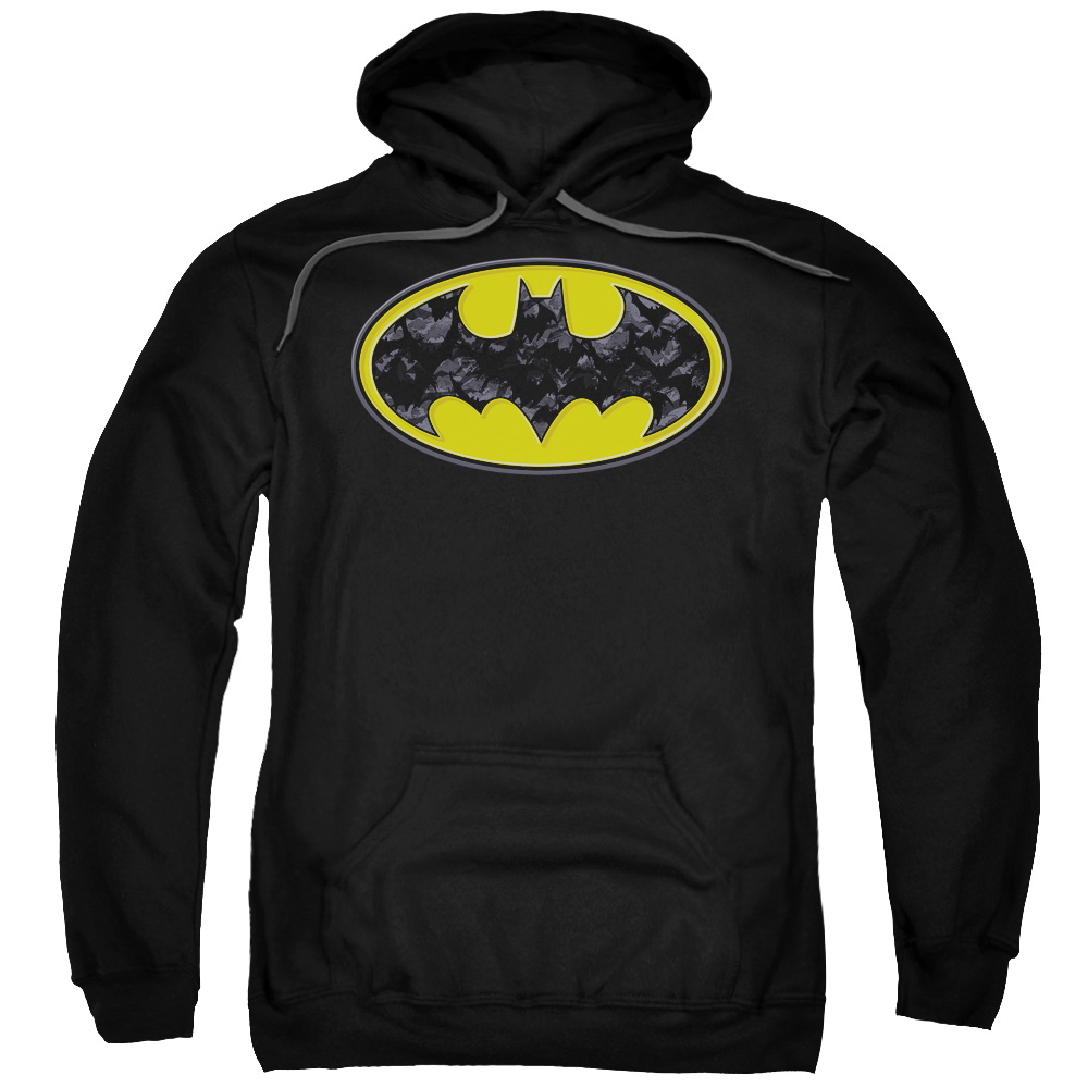 Batman Bats In Logo Mens Pullover Hoodie by Trevco
