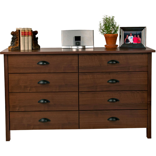 8-Drawer Nouvelle Dresser, Walnut by Spartak Enterprises Inc