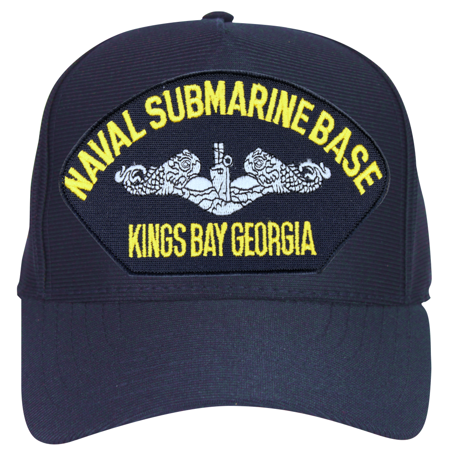Naval Submarine Base Kings Bay with Silver Dolphins Ball Cap