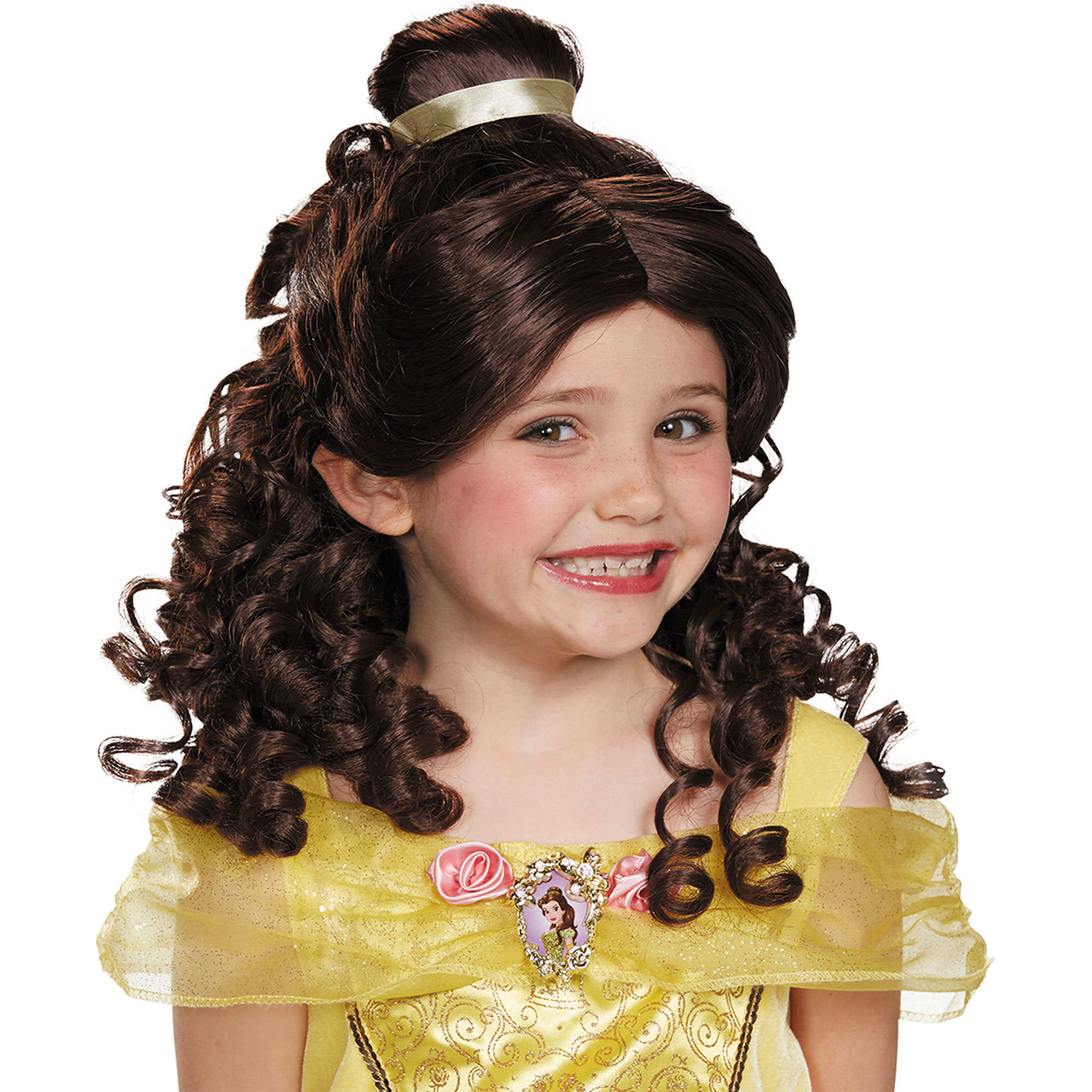 Disguise Belle Disney Princess Beauty Child Wig Size One Size, Style DG17806