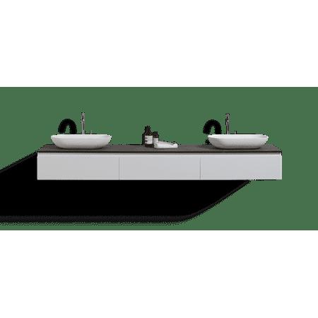 Ovai 84wall Mount Modern Bathroom Vanity With Double Vessel Sink